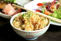Жареные рисы с чесноком Стоковое Изображение RF