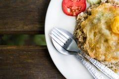 Жареные рисы dish близко вверх Стоковые Фото