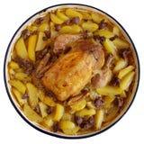 Жареный цыпленок с картошками Стоковые Фото
