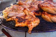 Жареный цыпленок, зажаренный цыпленок Стоковые Фото