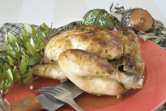Жареный цыпленок Стоковое Изображение