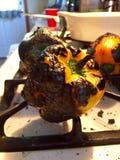 Жарить в духовке перцев Стоковые Фото