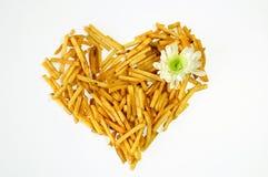 жарит картошку сердца Стоковые Фотографии RF
