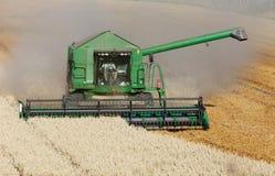 Жатка зернокомбайна на работе Стоковое Фото