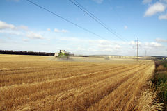 Жатка зернокомбайна Стоковое Фото