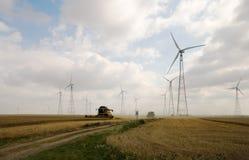 Жать на wheatfield Стоковые Изображения