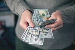 Жадность для денег, предпосылки денег, долларов Стоковая Фотография