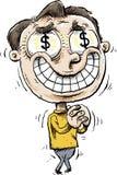Жадные глаза денег бесплатная иллюстрация