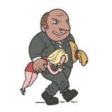 жадный человек иллюстрация штока