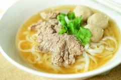Жалуйтесь суп лапши, азиатский стиль в Таиланде Стоковое фото RF