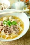 Жалуйтесь суп лапши, азиатский стиль в Таиланде Стоковые Фото