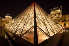Жалюзи Musee в Париже к ноча Стоковые Изображения RF