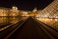 Жалюзи Musee в Париже к ноча Стоковые Изображения