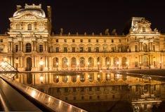 Жалюзи Musee в Париже к ноча Стоковое фото RF