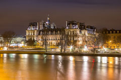 Жалюзи Musee в Париже к ноча Стоковое Изображение RF