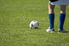ждать введения мяча в игру Стоковые Фото