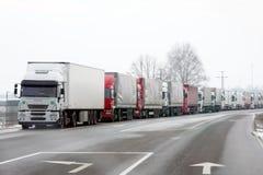 ждать грузовиков Стоковые Фотографии RF