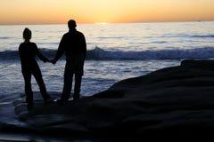 ждать захода солнца Стоковые Изображения RF