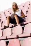ждать игрока спички баскетбола женский Стоковое фото RF