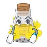 Ждать канола масло семени на мультфильме иллюстрация вектора