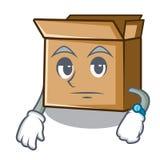 Ждать картон мультфильма помещенный рядом со стулом бесплатная иллюстрация