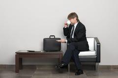 ждать комнаты бизнесмена Стоковая Фотография RF