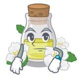 Ждать масло жасмина изолированное в мультфильме иллюстрация штока