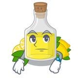 Ждать масло лимона полило внутри стекло мультфильма иллюстрация вектора
