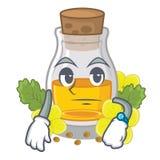 Ждать масло мустарда в форме мультфильма иллюстрация штока