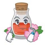 Ждать масло семени плода шиповника на талисмане бесплатная иллюстрация