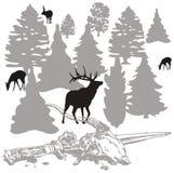 ждать охотников иллюстрация штока