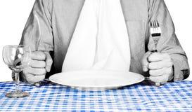 ждать сервиса связанного с питанием обедающего Стоковая Фотография