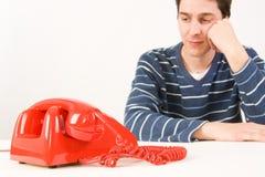 ждать человека звонока Стоковые Фотографии RF