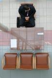 ждать 2 интервью стоковое фото