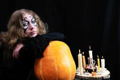 ждать halloween стоковое изображение rf