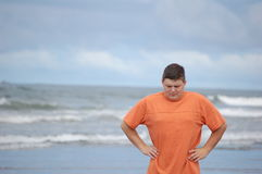желание веса потери пляжа Стоковое Изображение