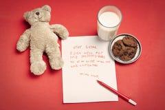 желание письма рождества ребенка сиротливое Стоковое Изображение