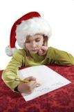 желание списка рождества Стоковая Фотография