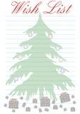 желание списка рождества Стоковые Фотографии RF