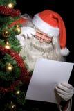 желание santa чтения списка claus Стоковое Фото