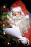 желание santa чтения списка claus Стоковое Изображение