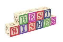 желания блоков самое лучшее алфавита Стоковая Фотография RF