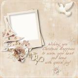 желания сбора винограда рождества карточки Стоковое фото RF
