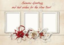 желания сбора винограда рождества карточки Стоковые Изображения RF
