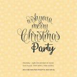 Желающ вам веселую предпосылку снежинки партии ночи Chrismas иллюстрация вектора
