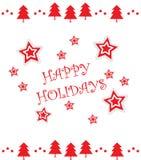 Желающ вам счастливые праздники! Наслаждаться праздниками иллюстрация вектора