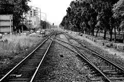 Железная дорога в Бангкоке, Таиланде стоковое фото rf