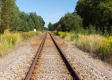 Железная дорога в сельской местности Стоковое Фото