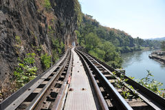 Железная дорога в Таиланде стоковые фотографии rf