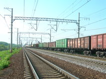 Железная дорога и поезд Стоковое Изображение RF
